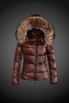 fe9bbd0d4d36 2015 Moncler Y 15 Fur Hooded down jacket for women in coffee  Moncler  Women UK393  - €227.72   Moncler Online Shop Provide Moncler Jacket Moncler  ...