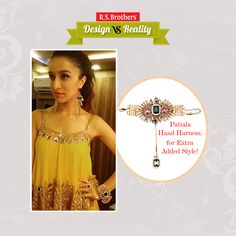 #Design vs #Reality Bollywood Beautiful Actress #ShraddhaKapoor looks stunning in this patiala 'Hand Harness'. How much would you rate for her style out of 5? Present your Interest in comments…  (Image copyrights belong to their respective owners)