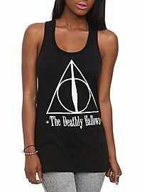 feda72c99098c Harry Potter And The Deathly Hallows Symbol Girls Tank Top