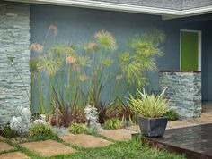 colorful mid century modern residence modern landscape san diego kropat interior design