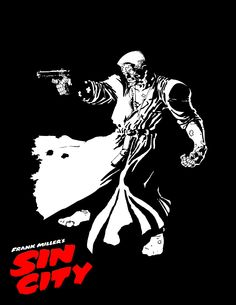 Sin City by Frank Miller Comic Book Characters, Comic Character, Comic Books Art, Comic Art, Frank Miller Sin City, Frank Miller Art, Sin City Comic, Cyberpunk, Vintage Oddities