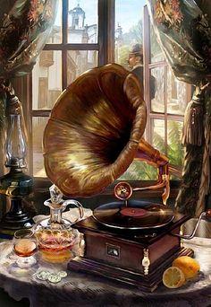62 still life oil painting ideas Musik Wallpaper, Still Life Oil Painting, Phonograph, Still Life Art, Oeuvre D'art, Art Drawings, Instruments, Illustration Art, Old Things