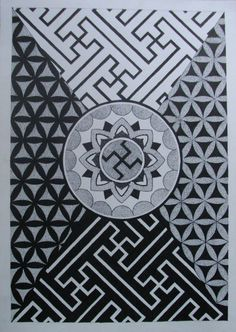 Swastika mandala S Tattoo, Mandala Tattoo, Body Tattoos, Pattern Design, My Design, Japanese Tattoo Symbols, Old Symbols, Japanese Patterns, Texture Design