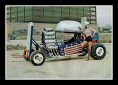 The hard hat hauler, a nice take on the Custom Wheels, Custom Cars, Classic Hot Rod, Classic Cars, T Bucket, Weird Cars, Crazy Cars, Car Humor, Models