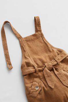 Straight Neck Overalls With Straps That Button At Back. Elastic Waistband At Back And Front Belt Appliqué. Front Flap Pockets With Buttons. Dungarees, Overalls, Zara United States, Fasion, What To Wear, Kids Fashion, Rompers, Belt, Casual