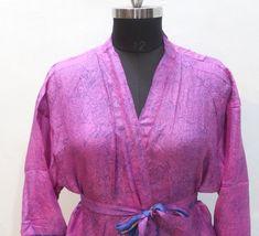 Boho Kimono, Kimono Dress, Silk Kimono, Silk Dress, Indian Silk Sarees, Indian Fabric, Silk Fabric, Silk Jacket, Kimono Jacket