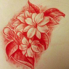 Drawing of my tattoo. Sampaguita flowers by Lindsay Bugbaker!!!! #filipinotattoosdesigns