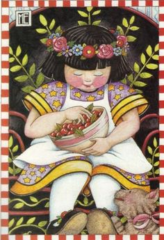 Mary Engelbreit - bowl of cherries