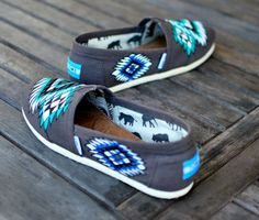Custom Hand Painted TOMS Native American tribal by BStreetShoes