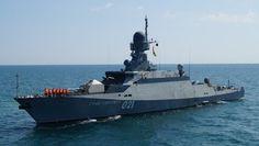 """Buque portamisile de la Flotilla rusa del Caspio """"Grad Sviyazhsk"""""""
