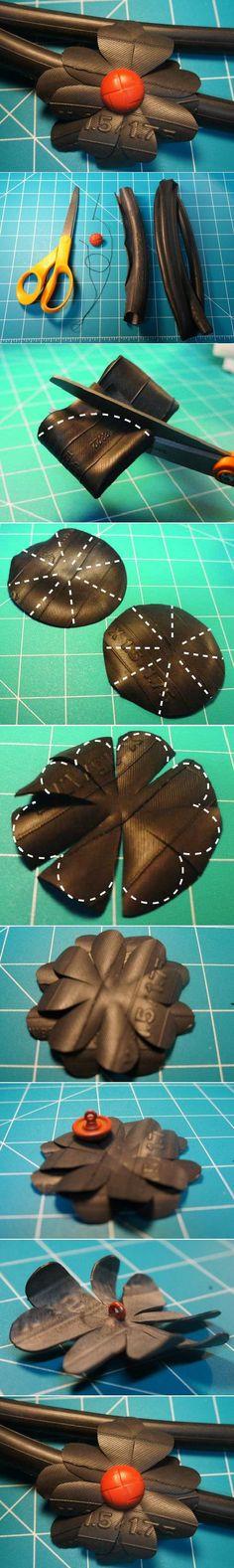 DIY Rubber Tire Flower