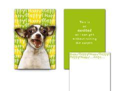 "Hallmark Humor Card • ""Dog Head"" on Spring."
