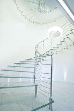 Scala circolare / con gradini in vetro / aperta / indoor GLASS Marretti