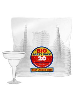 Clear Plastic Margarita Glasses 20ct - Party City