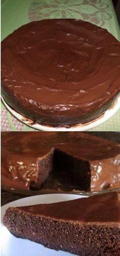 Torta de Chocolate Crocante, facil de fazer e muito gostoso de comer! um dos bolos mais gostosos e econômicos que existe! #bolo #bolodechocolate #tortadechocolate #tortadechocolate #receita #sobremesas