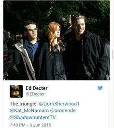 Shadowhunters. I suppose it went from The Circle to The Triangle. ...Too soon?