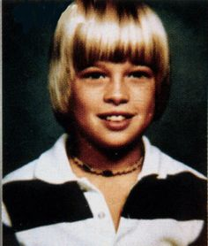 BRAD PITT through childhood, high school and college « Celebrities Then and Now
