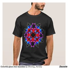 Colorful glass star mandala