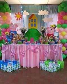 Que tengan una excelente semana. #peppapig #peppa #george #fiesta #party #decoracion #globos #piñateria
