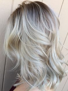 Platinum Blonde with shadow root
