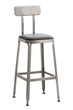 Industrial Bar Stool Black Faux Leather Seat Kitchen Pub Hotel High Back Chair for sale online Industrial Bar Stools, High Back Chairs, Chairs For Sale, Black Faux Leather, Metallica, Furniture, Home Decor, Decoration Home, Room Decor