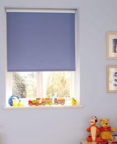 Add a child safe blind into your baby's nursery. #rollerblinds #blueblinds #home #interiordesign #childrensbedroom #childrensblinds Please visit us at www.barnesblinds.co.uk