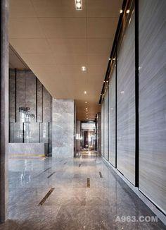 图六:昆明海伦中心销售中心设计-过道设计