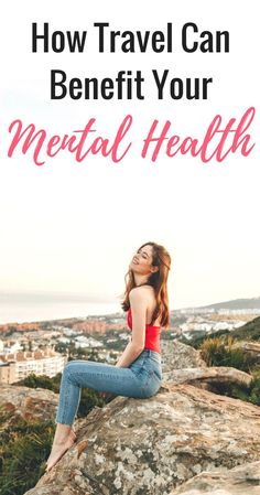 How travel can benefit your mental health and make you happy and more positive and inspired. Traveling can be great for your mental health and improve your mindset and improve your depression and anxiety or if you deal with stress problems. Wellness Tips, Health And Wellness, Health Tips, Anxiety Relief, Stress Relief, Understanding Anxiety, Mental Health Problems, Dealing With Stress, Self Development