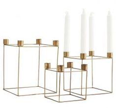 Madam Stoltz / Adventný svietnik Cube Antique brass