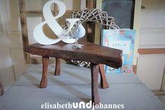 Kleiner naturholz Tisch oder Beisteltisch aus Frankreich! Eiche! E 39,- von elisabethUNDjohannes bei DaWanda