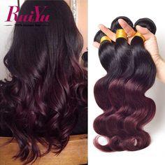 オンブル人間の髪織りペルーバージンヘア実体波3ピース1b/33/ブルゴーニュ99jオンブルペルー髪バンドルオンブル髪エクステンション