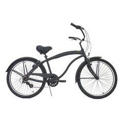 7-Speed Aluminum Beach Cruiser Frame Color: Flat Black Black - http://www.bicyclestoredirect.com/7-speed-aluminum-beach-cruiser-frame-color-flat-black-black/