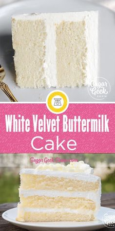 Ingredients 12 oz cake flour 12 oz granulated sugar 1 tsp salt 1 Tbsp baking powder tsp baking soda 5 large egg whites room temperature 4 oz vegetable oil 10 oz buttermilk room temperature or slightly warm 6 oz butter unsalted and softened 2 tsp vanilla Best Cake Recipes, Dessert Recipes, Vanilla Cake Recipes, Soft Vanilla Cake Recipe, French Vanilla Cake, New Recipes, Easy Recipes, Recipies, Food Cakes
