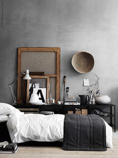 Here we showcase a a collection of perfectly minimal interior design examples for you to use as inspiration.Check out the previous post in the series: 30 Examples Of Minimal Interior Design Interior Design Examples, Interior Design Inspiration, Design Ideas, Design Trends, Design Styles, Interior Ideas, Industrial Style Bedroom, Modern Industrial, Modern Rustic