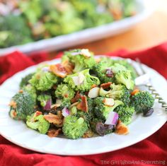 broccoli salad with bacon and nuts. I made this and it went over well! No leftovers.
