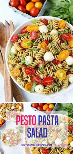 This easy pasta salad is a summertime favorite! Enjoy it for lunch, dinner, or take it to a potluck to share with friends and family. Visit twopeasandtheirpod.com for more simple, fresh, and family friendly meals. #easyrecipe #pasta #salad #summer #familyfreshmeals #lunch #dinner #dinnerrecipes