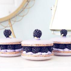 black raspberry macaron sandwiches {{ nutmeg & honeybee }}