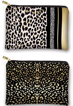 Luxe Leopard Collection by Lady Jayne: Each faux leather bag has polyester lining and a custom Lady Jayne zipper pull – per fect for storing beauty or office accessories. Office Accessories, Leather Bag, Zipper, Lady, Gifts, Travel, Beauty, Collection, Fashion