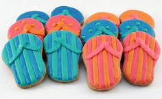 Flip Flop Cookies Will Have You Craving the Beach - Foodista.com