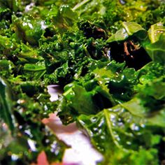 Kale chips! The best cheat in life....crunchy, tasty AND a great source of lutein. I have converted many kale-haters on these. Super easy to make!