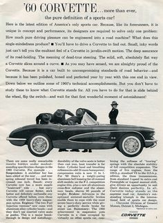 1960 Corvette Advertisement Sports Car Illustrated January 1960 | by SenseiAlan