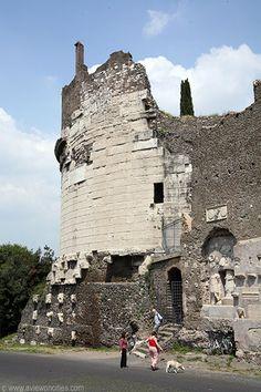 Tomb of Cecilia Metella at the Via Appia Antica - Rome, Italy