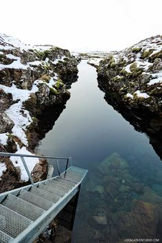 Silfra in Thingvellir National Park Iceland - Here you can snorkel or dive between the American and Eurasian tectonal plates. The underwater visibility is over 100 m and the water is pristine and drinkable. // localadventurer.com