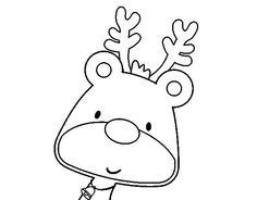 Coloriage de Rudolphe le renne pour Colorier - Coloritou.com