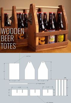 Awesome Crafts for Men and Manly DIY Project Ideas Guys Love - Fun Gifts, Manly Decor, Games and Gear. Tutorials for Creative Projects to Make This Weekend | Wooden Beer Totes | diyjoy.com/...