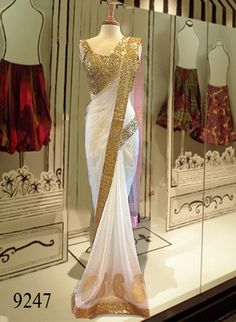 White Lotus Bollywood Designer Beautiful Sarees Bollywood Sarees Online on Shimply.com
