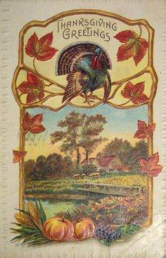 vintage thanksgiving images | Vintage Holiday Images & Cards