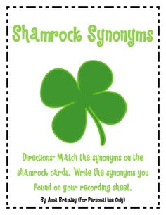 """Shamrock Synonyms"". - Re-pinned by @PediaStaff – Please Visit http://ht.ly/63sNt for all our pediatric therapy pins"