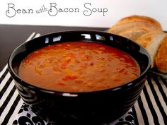 Bean With Bacon Soup by Jamie Cooks It Up!