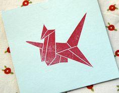 Origami Crane Stamp by annawilhelm on Etsy, $9.00